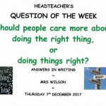 Question of the Week - 7th December 2017